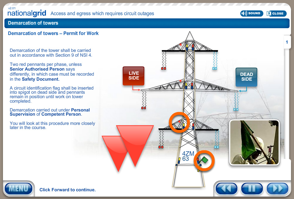 Bespoke eLearning and Simulation – TNA – National Grid